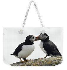 Kissing Puffins Weekender Tote Bag