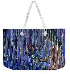 Kissing Rain Weekender Tote Bag