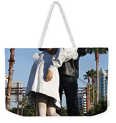 Kissing Sailor - The Kiss - Sarasota Weekender Tote Bag