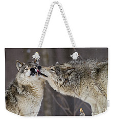 Kissy Face Weekender Tote Bag by Wolves Only