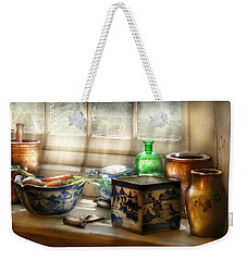 Kitchen - In A Kitchen Window Weekender Tote Bag by Mike Savad