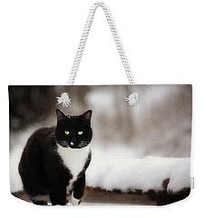 Kitty Snow Play Weekender Tote Bag