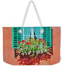 Kitzbuhel Window Weekender Tote Bag by Mary Ellen Mueller Legault