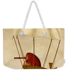 Kiwi Bird Kev's Airship Weekender Tote Bag by Marlene Watson