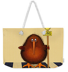 Kiwi Birds Crossing Weekender Tote Bag by Marlene Watson