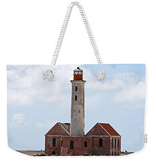 Weekender Tote Bag featuring the photograph Klein Curacao Lighthouse by David Millenheft