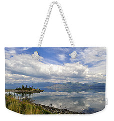 Weekender Tote Bag featuring the photograph Kluane Reflections by Cathy Mahnke