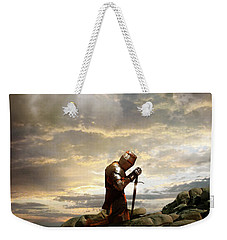 Kneeling Knight Weekender Tote Bag
