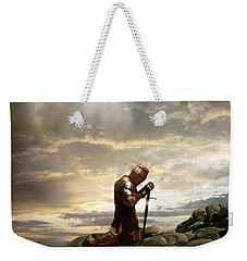 Kneeling Knight Weekender Tote Bag by Jill Battaglia