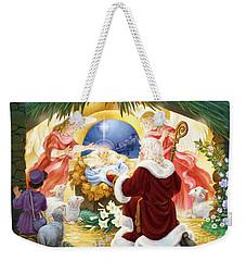 Kneeling Santa Nativity Weekender Tote Bag