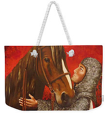 Knight And Horse Weekender Tote Bag