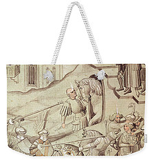Knights Jousting Weekender Tote Bag by Bohemian School