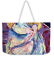 Knitting With Kitty Weekender Tote Bag by Marilyn Jacobson