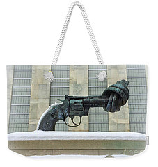 Knotted Gun Sculpture At The United Nations Weekender Tote Bag