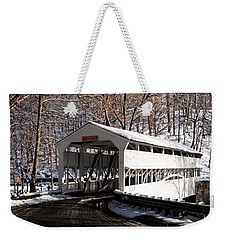 Knox Bridge In The Snow Weekender Tote Bag
