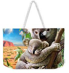Koala And Cub Weekender Tote Bag