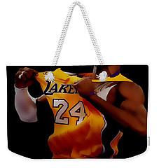 Kobe Bryant Sweet Victory Weekender Tote Bag by Brian Reaves