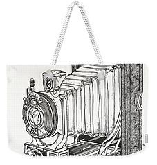 Weekender Tote Bag featuring the drawing Kodak 3a Autographic by Ira Shander