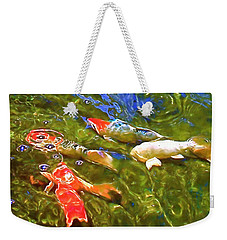 Weekender Tote Bag featuring the photograph Koi 1 by Pamela Cooper