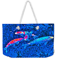 Weekender Tote Bag featuring the photograph Koi 2 by Pamela Cooper