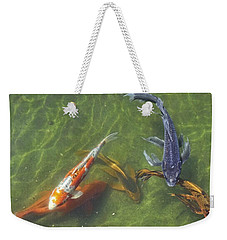 Weekender Tote Bag featuring the photograph Koi by Daniel Sheldon