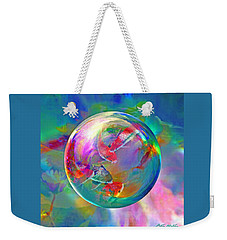 Koi Pond In The Round Weekender Tote Bag by Robin Moline