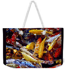 Weekender Tote Bag featuring the photograph Koi Pond by Marie Hicks