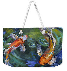Koi Swirl Weekender Tote Bag by Donna Tuten