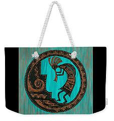 Weekender Tote Bag featuring the painting Kokopelli by Susie WEBER