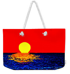 Kona Sunset Pop Art Weekender Tote Bag by David Lawson