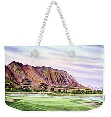 Koolau Golf Course Hawaii 16th Hole Weekender Tote Bag by Bill Holkham