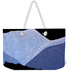 Weekender Tote Bag featuring the painting Kootenay Mountains by Janice Dunbar