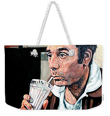Weekender Tote Bag featuring the painting Kramer by Tom Roderick
