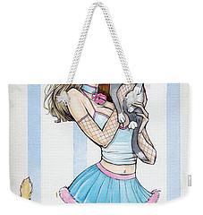 Kristi Kitty Cooney Weekender Tote Bag by Jimmy Adams