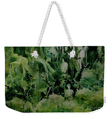 Weekender Tote Bag featuring the painting Kudzombies by Elizabeth Carr