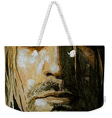 Weekender Tote Bag featuring the painting Kurt Cobain by Laur Iduc