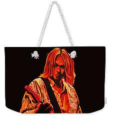 Kurt Cobain Painting Weekender Tote Bag by Paul Meijering