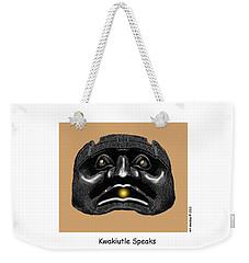 Kwakiutl Speaks Weekender Tote Bag
