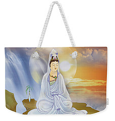 Weekender Tote Bag featuring the photograph Kwan Yin - Goddess Of Compassion by Lanjee Chee