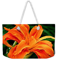 Kwanso Lily Weekender Tote Bag by Rona Black