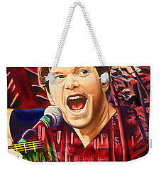 Weekender Tote Bag featuring the painting Kyle Hollingsworth At Hornin'gs Hideout by Joshua Morton