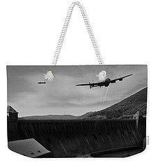 L For Leather Over The Eder Dam Black And White Version Weekender Tote Bag