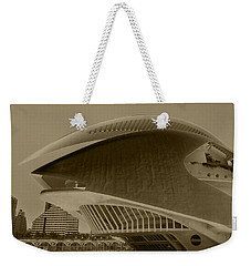 Weekender Tote Bag featuring the photograph L' Hemisferic - Valencia by Juergen Weiss