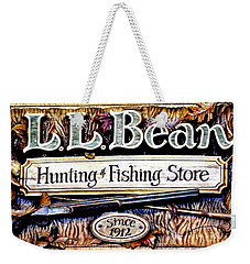 L. L. Bean Hunting And Fishing Store Since 1912 Weekender Tote Bag