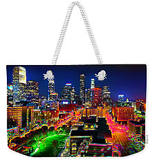 Weekender Tote Bag featuring the painting La Experience by Jalai Lama