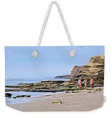 La Jolla Beach Walk Weekender Tote Bag