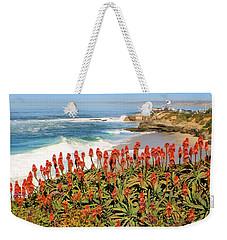 La Jolla Coast With Flowers Blooming Weekender Tote Bag