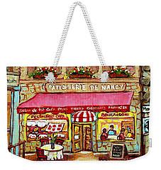 La Patisserie De Nancy French Pastry Boulangerie Paris Style Sidewalk Cafe Paintings Cityscene Art C Weekender Tote Bag