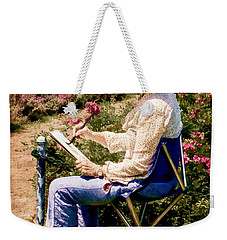 Weekender Tote Bag featuring the photograph La Peintre by Chris Lord