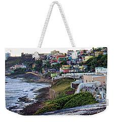 Weekender Tote Bag featuring the photograph La Perla by Daniel Sheldon
